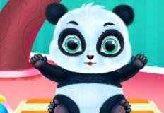 Cute Panda Caring and Dress Up