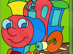 Cute Train Online Coloring