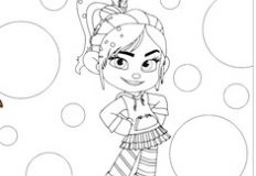 Cute Vanellope Coloring