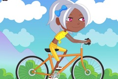 Cycling Girl Dress Up