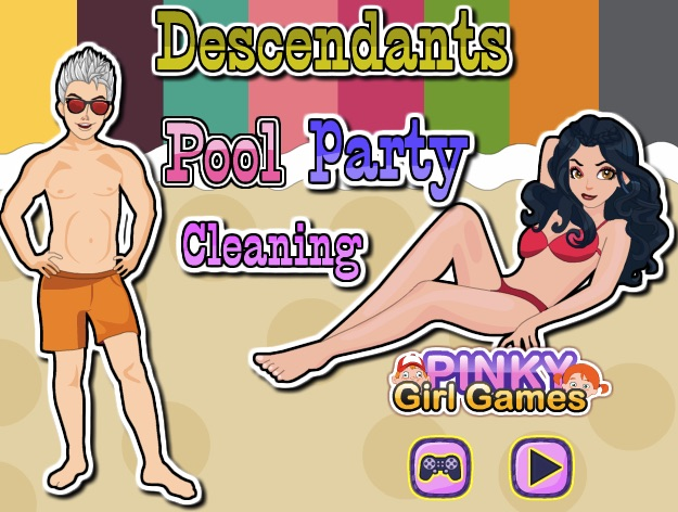 Descendants Pool Party Cleaning