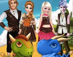 Disney Couple and Dragons