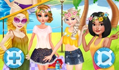 Disney Princesses Summer Life
