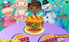 Doc McStuffin Making Burger