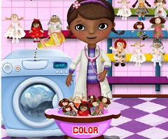 Doc McStuffin Washing  Dolls