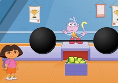 Dora and Boots Weight Lifting