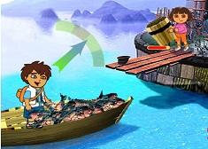 Dora and Diego Fishing