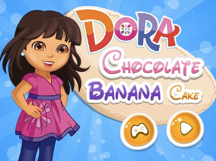 Dora Cooking Chocolorat Banana Cake