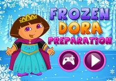 Dora Frozen Costume