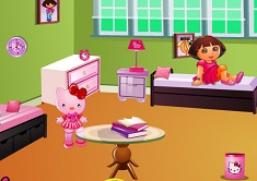 Dora Hello Kitty Room