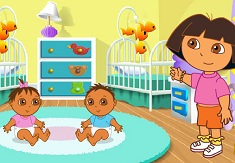 Dora Playtime with Twins