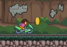 Dora Riding Motorcycle