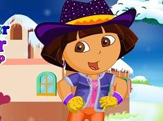 Dora Winter Explorer Dress Up
