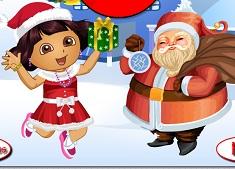 Dora with Santa Dress Up