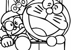 Doraemon and Nobita Coloring