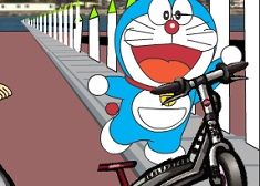 Doraemon on Scooter
