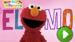 Elmo Spot the Differences