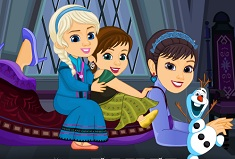 Elsa and Anna and their Mom Dress Up