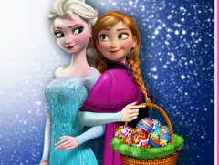 Elsa and Anna Easter Egg