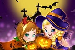 Elsa and Anna Halloween Spree