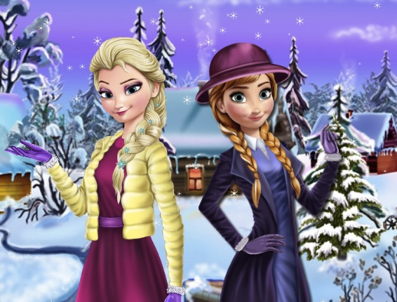 Elsa And Anna Winter Dress Up Frozen Games