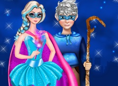 Elsa and Jack Superheroes