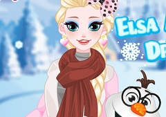 Elsa and Olaf Dress Up