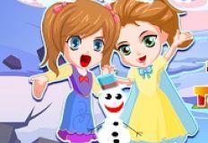 Elsa Anna Save Olaf 2
