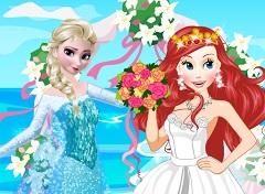 Elsa at Ariel Wedding