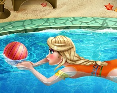 Elsa at the Swimming Pool