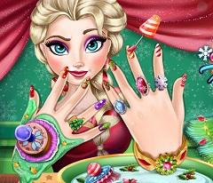 Elsa Christmas Nail Spa