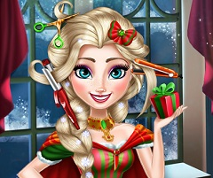 Elsa Christmas Real Hairstyle