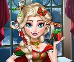Elsa Christmas Real Hairstyle