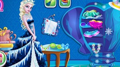 Elsa Cleaning Closet