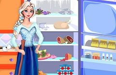 Elsa Cleaning the Fridge
