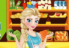 Elsa Cleaning the Supermarket