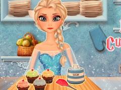 Elsa Cooking Cupcakes