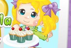 Elsa Cooking Eggless Vanilla Cupcakes