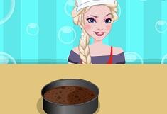 Elsa Cooking Flourless Chocolate Cake