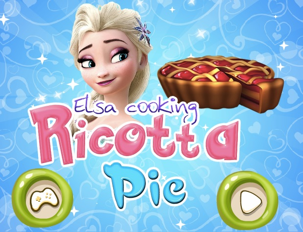 Elsa Cooking Ricotta Pie