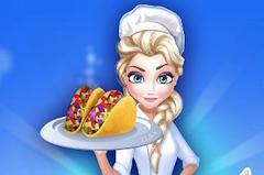 Elsa Cooking Taco