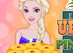 Elsa Cooking Upside Down Pineapple Cake