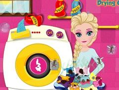 Elsa Drying Clothes