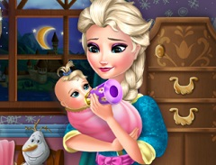 Elsa Feeding Baby