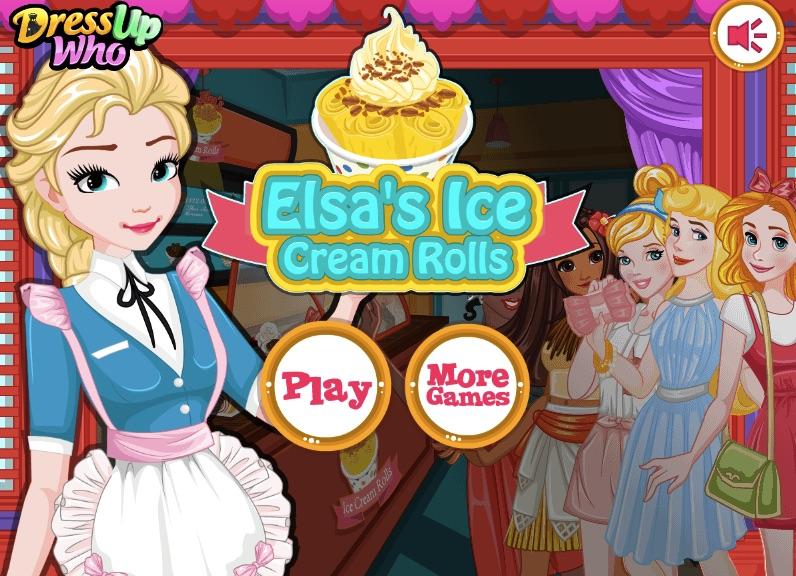 Elsa Ice Cream Rolls