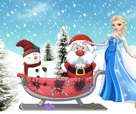 Elsa is Helping Santa