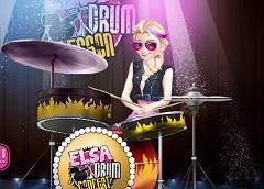 Elsa Play the Drumm