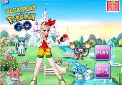 Elsa Plays Pokemon Go