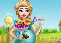 Elsa Pregnant Craving Ice Cream