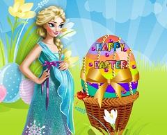 Elsa Pregnant Easter Egg